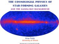 the cosmologial physics of star-forming galaxies - KICP Workshops