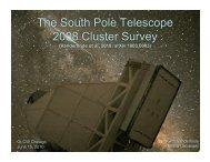 The South Pole Telescope 2008 Cluster Survey - KICP Workshops