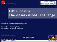 DM subhalos: The observational challenge - KICP Workshops