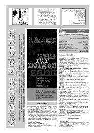 K atholisches K irchenblatt K atholisches K irchenblatt - Kirche in ...