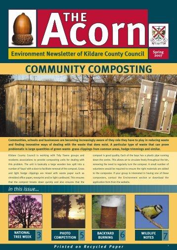 Acorn newsletter winter 2006 - Kildare.ie