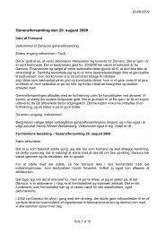 Formandens beretning ved Daniscos Generalforsamling 20. august ...