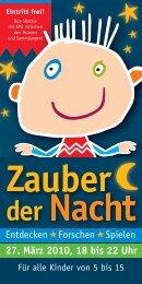 27. März 2010, 18 bis 22 Uhr - Kinderkultur - Kassel