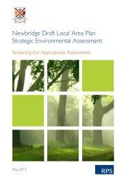 Draft Newbridge LAP APpropriate Assessment - Kildare.ie