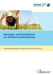 Beratungs- und Eventaktionen zur effektiven Kundenbindung - Anzag