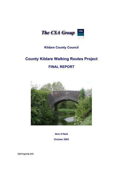 County Kildare Walking Routes Project - Kildare.ie