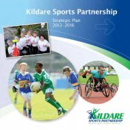 Kildare Sports Partnership Strategic Plan 2012 - 2016 - Kildare.ie