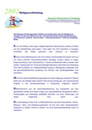 Programm - Kinder-Umwelt-Gesundheit