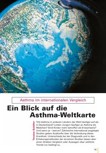 Ein Blick auf die Asthma-Weltkarte - Kinder-Umwelt-Gesundheit