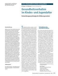 Gesundheitsverhalten im Kindes- und Jugendalter - Kinder-Umwelt ...