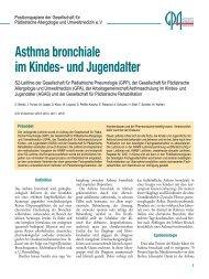 Asthma bronchiale im Kindes- und Jugendalter - Kinder-Umwelt ...