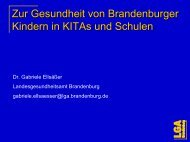 Zur Gesundheit von Brandenburger Kindern in ... - Brandenburg.de