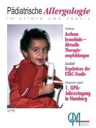 Asthma bronchiale - Gesellschaft für Pädiatrische Allergologie und ...