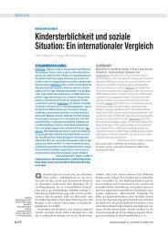 Kindersterblichkeit und soziale Situation: Ein internationaler Vergleich