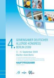 4.Gemeinsamer Deutscher allerGie-KonGress Berlin 2009