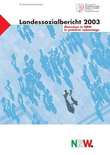 Landessozialbericht 2003 - MGSFF NRW - Sozialpolitik aktuell