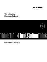 ThinkStation Brugervejledning - Lenovo