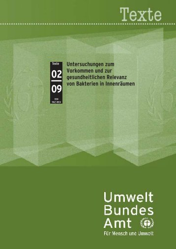 Untersuchungen zum Vorkommen und zur gesundheitlichen ...