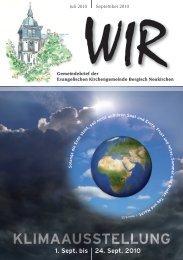 WIR Juli - September 2010 - Evangelische Kirchengemeinde ...