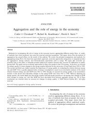 Aggregation and the role of energy in the economy