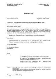 Bericht - Der Landtag von Sachsen-Anhalt