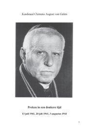 Kardinaal Clemens August von Galen Preken in een ... - Kirchensite