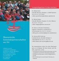 Ökumenische Gemeindepartnerschaften am Ort - Kirchensite