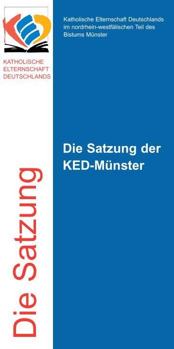 Die Satzung der KED-Münster - Kirchensite
