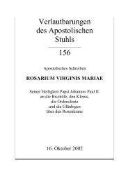 Apostolisches Schreiben über den Rosenkranz - Kirchensite