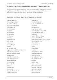 Download der Straßenliste - Ev. Kirchengemeinde Leverkusen ...