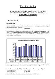 V o r b e r i c h t Bistumshaushalt 2006 (nrw-Teil des ... - Kirchensite
