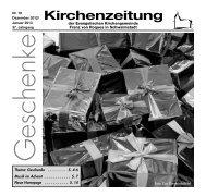 Kirchenzeitung 2012-10 Dezember - Januar - Kirchetreysa.de