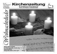 Kirchenzeitung 2011-10 Dezember - Januar - Kirchetreysa.de