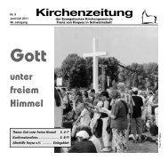 Kirchenzeitung 2011-05 Juni - Juli - Kirchetreysa.de