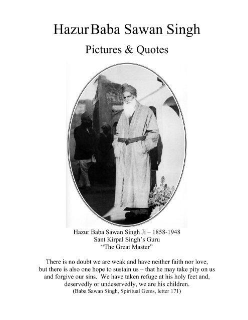 Hazur Baba Sawan Singh Pictures And Quotes Spiritual
