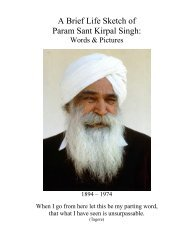 A Brief Life Sketch of Param Sant Kirpal Singh