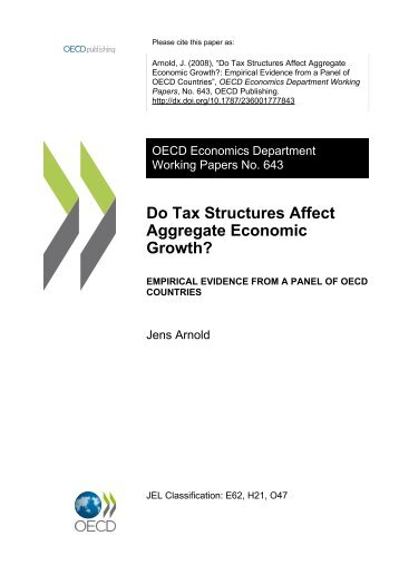 Do Tax Structures Affect Aggregate Economic Growth?