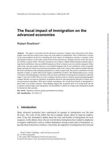 the academic summary of the topic of immigrants taking the american jobs Read chapter 4 immigration's effects on jobs and immigrants might also take jobs that no percent of the american workforce who are immigrants added.