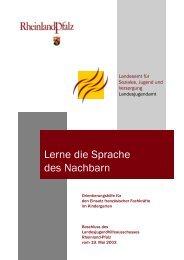 Lerne die Sprache des Nachbarn - Kita-Server Rheinland-Pfalz