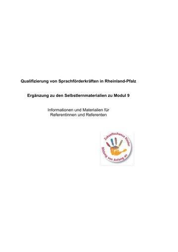 Informationen und Materialien für Referentinnen und Referenten