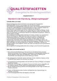 """Standard in der Erprobung """"Religionspädagogik"""" - Fachbereich ..."""