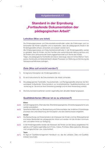 Fortlaufende Dokumentation der Arbeit - Fachbereich ...