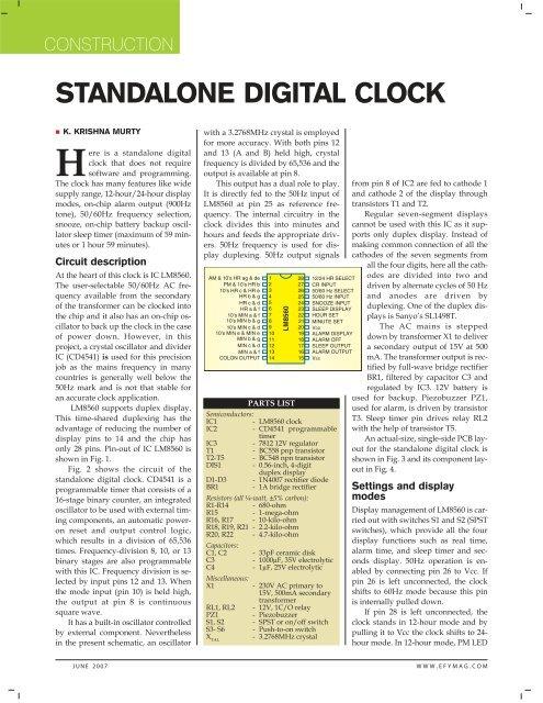 standalone digital clock kits \u0027n\u0027 sparesRelated Links Digital Timer Alarm Countdown Timer Lm8560 Digital Clock #15