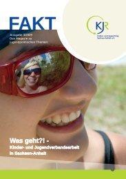 Was geht?! - Kinder- und Jugendverbandsarbeit in Sachsen-Anhalt