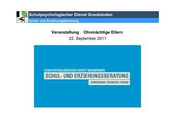 Vorstellung Schulpsychologischer Dienst ... - KJP Graubünden