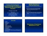 Practice-Oriented Psycho- pharmacotherapy in Children and ...