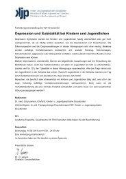 Ausschreibung - KJP Graubünden