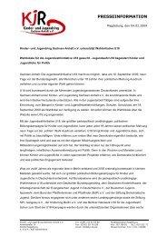 Kinder- und Jugendring Sachsen-Anhalt e.V. unterstützt ...