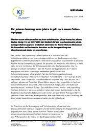 PRESSEINFO PM: Johanna beantragt erste juleica ... - Kinder