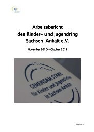 Jahresbericht 2011 - Kinder- und Jugendring Sachsen-Anhalt e.V.